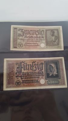 World - Old Germany - Collection of 114 banknotes in album with cassette