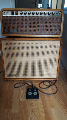 Legend Super Lead 100 guitar amplifier top and matching speaker box