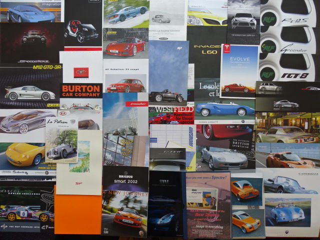 SPORTSCARS small brands - from AC Schnitzer to Westfield, from Brabus to Venturi - Mixed lot of 44 original sales brochures