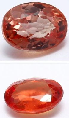 Set of 2 Padparadscha Sapphires – 0.45 ct. total - no reserve price