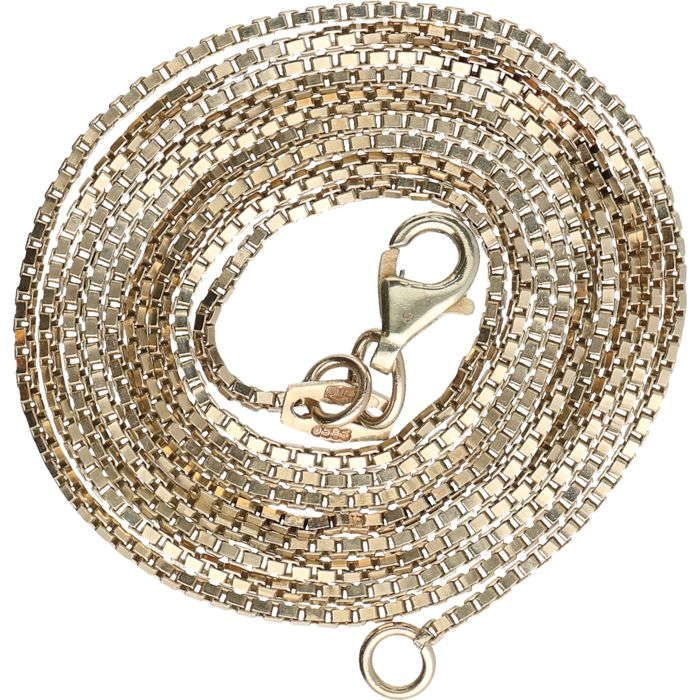 14 kt - Yellow gold Venetian link necklace - Length: 73.5 cm