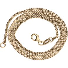 Yellow gold 14 kt curb link necklace – Length: 44 cm