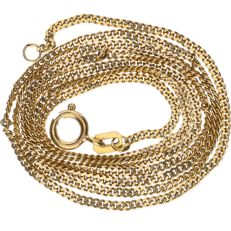 14 kt yellow gold curb link necklace – Length: 52 cm
