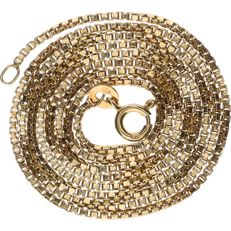 Yellow gold Venetian link necklace, 14 kt – Length: 60 cm