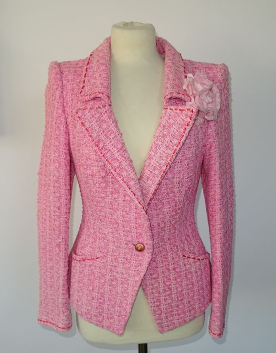 Chanel - Exclusive tweed blazer, mixed pink, in perfect condition
