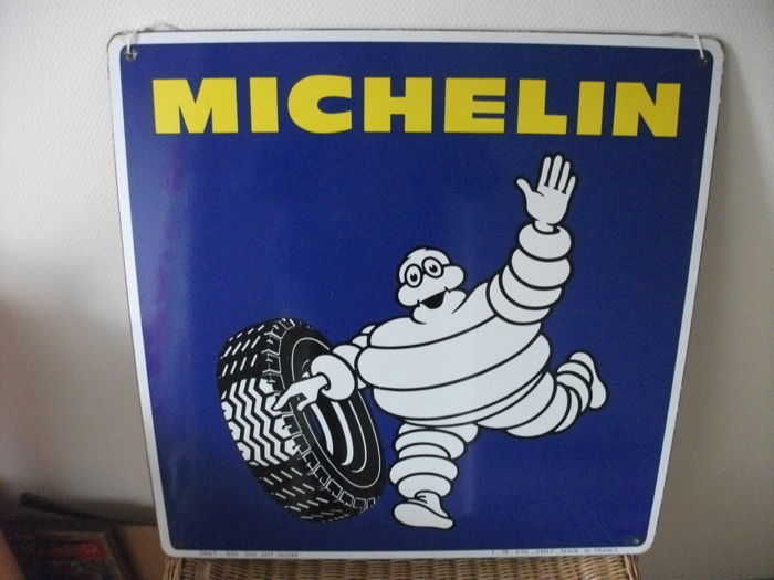 Enamel advertising sign MICHELIN (Bibendum)  1960