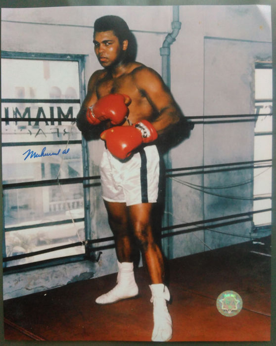 Unknown - Muhammad Ali ready to fighting signed photo + COA