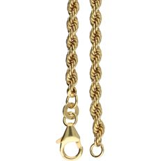 8 kt - Yellow gold rope necklace - Length: 45.5 cm