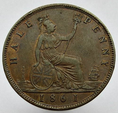United Kingdom - ½ penny 1861 Victoria - copper