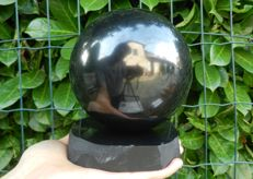 Shungite Sphere - with Shungite support - 127 mm - 3180 g