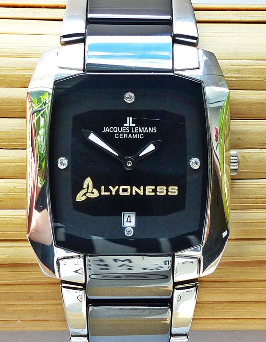 JACQUES LEMANS Lyoness High-Tech Ceramic -- men's special edition wristwatch 2017 edition