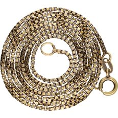 14 kt – Yellow gold Venetian link necklace – Length: 52.5 cm