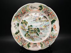 Antique porcelain famille rose plate - China - 19th century