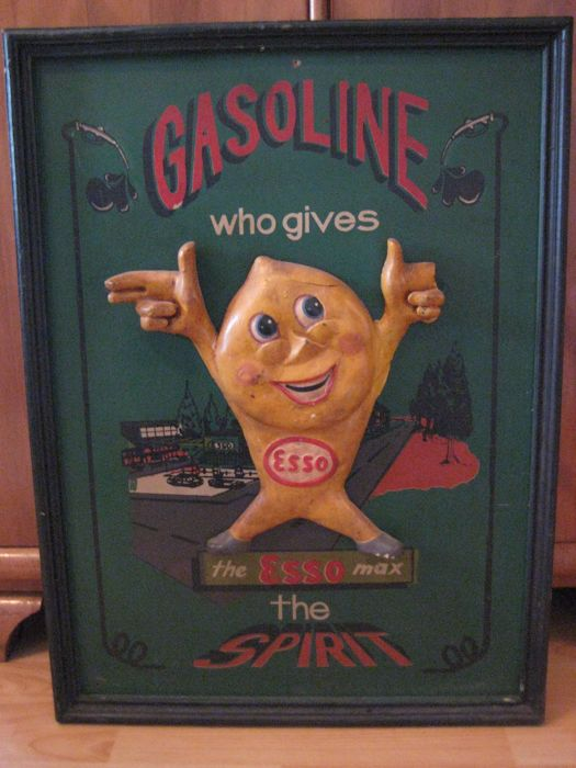 Esso advertising sign