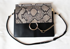 Chloé  - Faye Medium Python Shoulder Bag