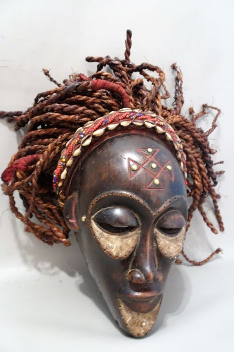 African mask - CHOKWE - D.R  Congo
