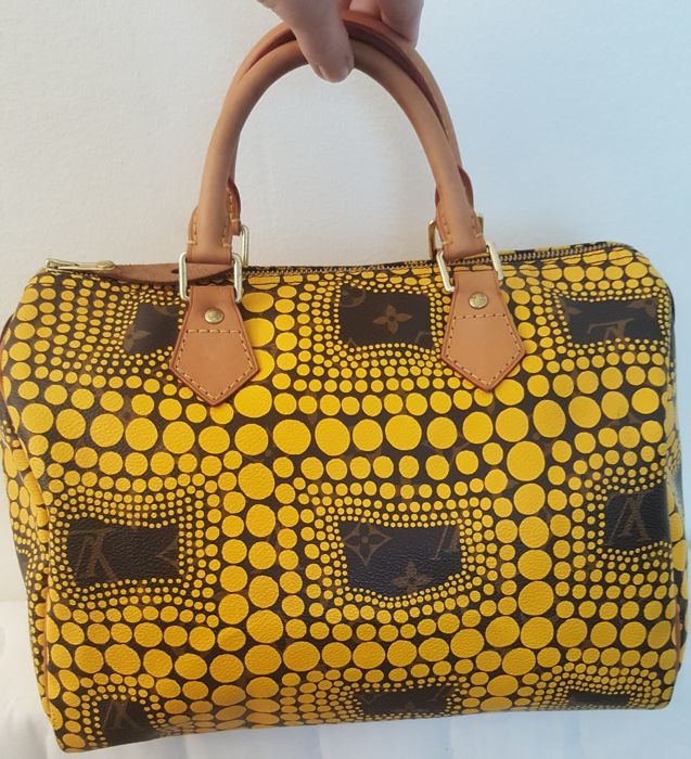 Louis Vuitton - Yayoi Kusama Yellow Monogram Town Speedy 30 - Limited Edition / Collector's item