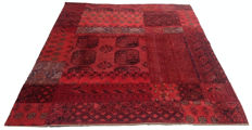 Different Pieces Hand Knotted Persian Patchwork  Carpet Area Rug 245 cm x 199 cm