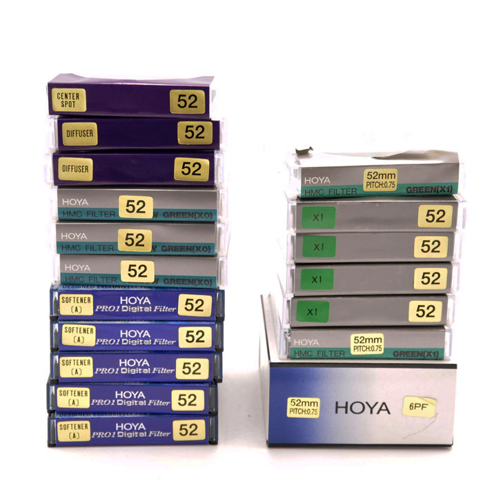 18 Hoya filters 52mm - New (1738)