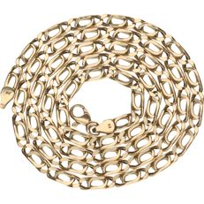 Yellow gold 14 kt Figaro link necklace - Length: 60 cm
