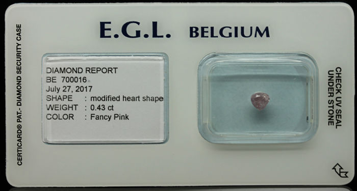 0.43ct Certified Fancy Pink Diamond  - NO RESERVE