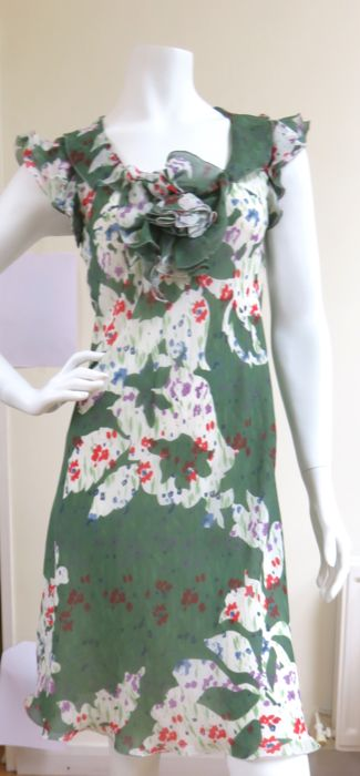 Emporio Armani - 100% Silk Floral Tea Dress