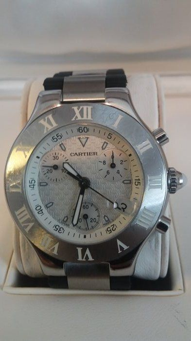 Cartier Must 21 Chronoscaph Ref. 2424 - men's wristwatch - 2011 to present