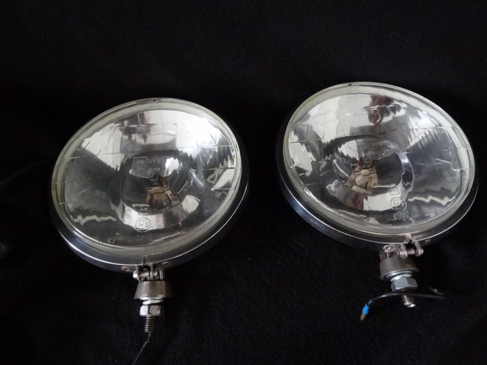 Set of Vintage spot-lights Cibie iode 45 from the 1960s