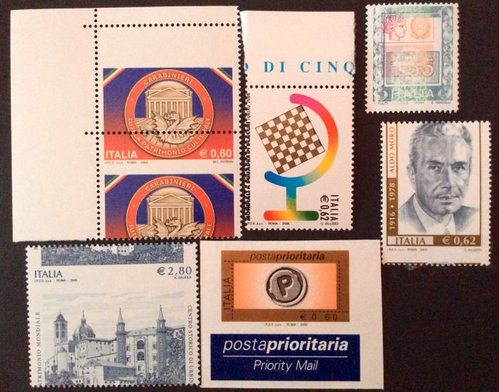 Republic of Italy - Lot of 5 varieties