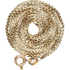 14 kt – Yellow gold Venetian link necklace – Length: 46 cm