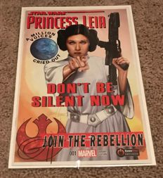 Marvel Comics Princess Leia - Issue #1 - GameStop Variant - Signed By Greg Horn - (2015)