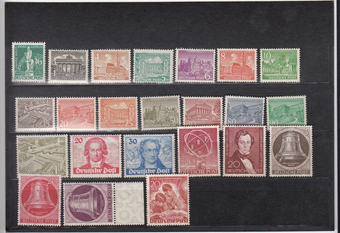 Berlin 1949-1954 –  a collection on stock cards