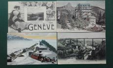 Selection of 95 postcards of Switzerland
