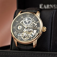 Thomas Earnshaw Longitude Dual Time –- Men's watch –- Gold plated, in mint condition, 2017