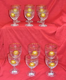 Set of 12 glasses Grimbergen including 6 of 50 cl and 6 of 25 cl