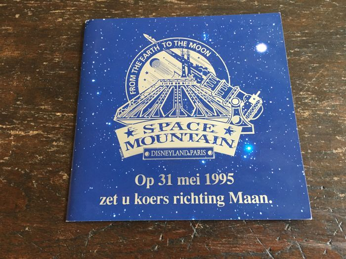 Disneyland Paris - Official invitation - Opening 31 May 1995 - Space Mountain - From the Earth to the Moon (1995)
