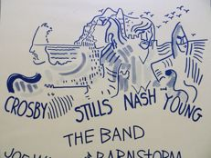 "Crosby Stills Nash & Young """" Dance"" Concert Poster 1974"