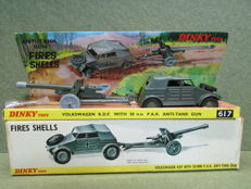 Dinky Toys - Scale 1/32 - Volkswagen K.D.F With 50mm Anti-Tank Gun No.617