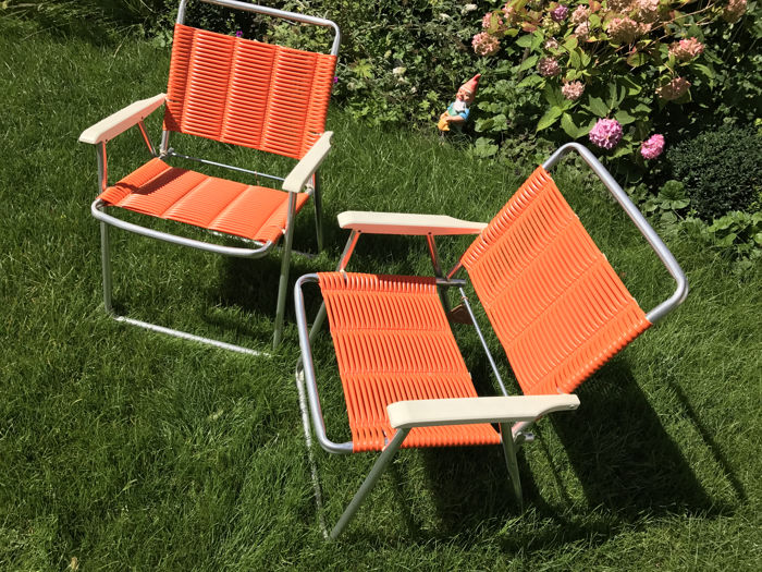 Kurz - aluminium vintage folding chairs