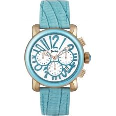 New Pocket Ladies Rond Chrono Medio Turquoise Watch New