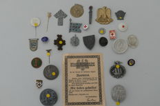 Various WHW and conference badges, lapel pins of the German Empire