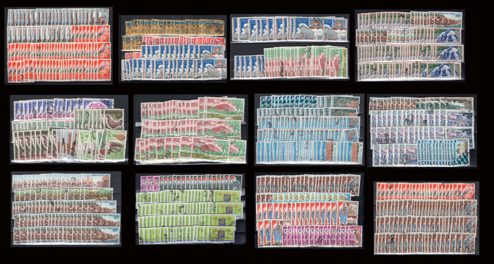 Ivory Coast 1960/1970 – Lot of various used stamps.