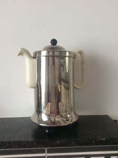 Thermo earthenware coffee pot with chrome case
