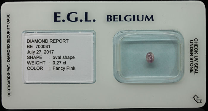 0.27 ct Certified Fancy Pink Diamond  - NO RESERVE