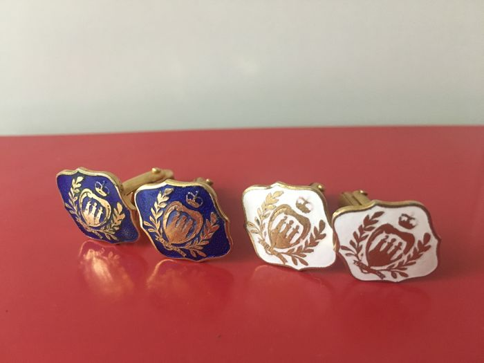 Pair of vintage cufflinks in 18 kt gold