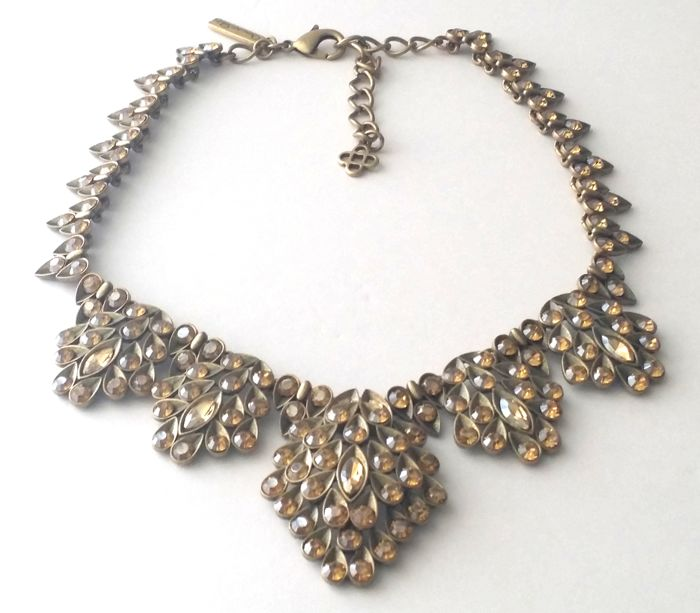 Oscar de la Renta Yellow Crystal Necklace