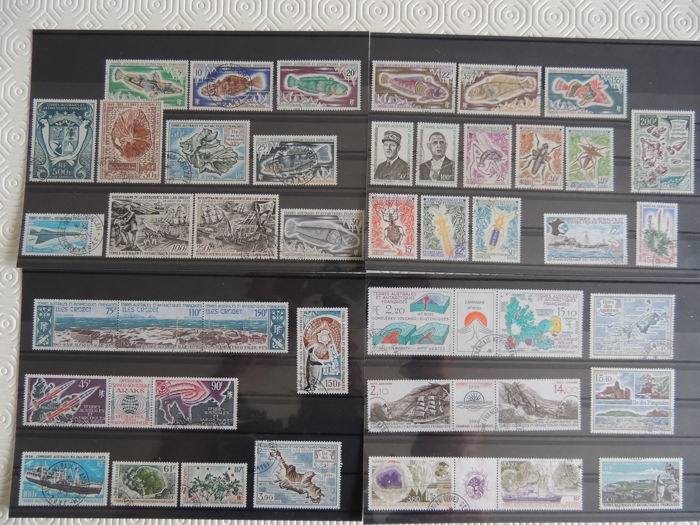 French Southern and Antarctic Lands 1972/1988 – Stamp collection – Yvert between no. 40 and 53 and Airmail between no. 21 and 94