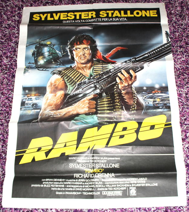 Rambo priginal 1982 cinema poster