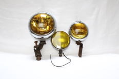 Three antique&rare fog lights - USA,Germany,England - ca.1950