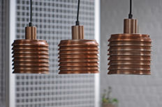 Hans Agne Jakobsson AB  Markaryd –  3 copper pendant lights,  Model t 642